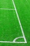 Angolo del campo di gioco del calcio (calcio) Fotografie Stock