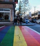 Angolo del decimo viale e Broadway, Seattle fotografie stock
