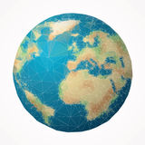 Angolo del globo Immagini Stock