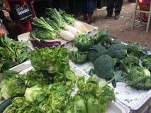 Angolo del mercato di verdure Immagini Stock