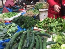 Angolo del mercato di verdure Immagini Stock Libere da Diritti