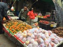 Angolo del mercato di verdure Fotografie Stock