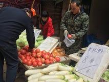 Angolo del mercato di verdure Immagine Stock Libera da Diritti
