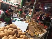 Angolo del mercato di verdure Fotografia Stock Libera da Diritti