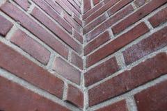 Angolo del muro di mattoni Fotografie Stock