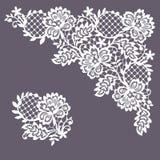 Angolo del pizzo Albero del fiore della clip art illustrazione di stock