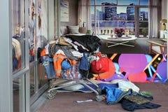 Angolo del senzatetto Immagini Stock