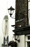 Angolo dell'osteria dell'isola della spezia a Portsmouth, Gran Bretagna Fotografie Stock