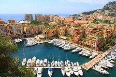 Angolo della città del Monaco dalla cima del palazzo Immagini Stock Libere da Diritti