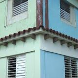 Angolo della costruzione di appartamento tropicale Fotografie Stock Libere da Diritti