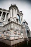 Angolo della facciata del palazzo Immagini Stock
