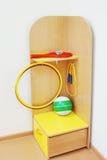 Angolo della mobilia con i giocattoli dei bambini Fotografia Stock