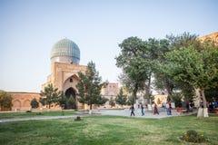 Angolo della moschea di Bibi-Khanym fotografia stock