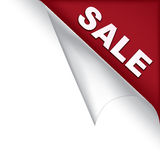 Angolo della pagina di vendita illustrazione vettoriale
