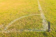 Angolo di calcio o del campo di calcio Fotografia Stock Libera da Diritti