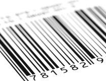 Angolo di codice a barre Fotografie Stock