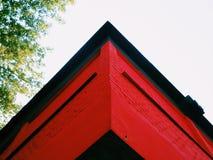 angolo di costruzione rossa Immagine Stock