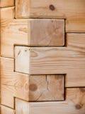 Angolo di legno Fotografia Stock