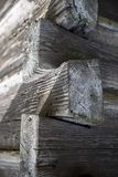 Angolo di parete di legno molto vecchia Fotografia Stock Libera da Diritti