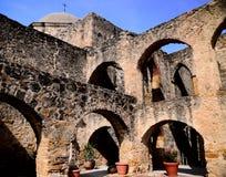 Angolo di San José di missione degli arché immagini stock