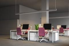 Angolo di ufficio open space grigio, società royalty illustrazione gratis