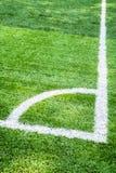 Angolo di un campo di calcio Immagine Stock