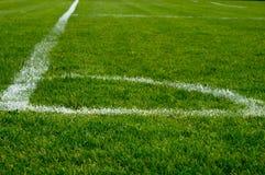 Angolo di un campo di football americano fotografia stock