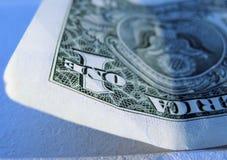 Angolo di un dollaro Bill Fotografia Stock