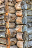 Angolo di vecchia casa di legno Fotografia Stock Libera da Diritti