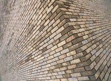 Angolo di vecchia costruzione di mattone immagine stock