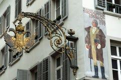 Angolo di vecchia Erbaspagna, Svizzera Fotografie Stock Libere da Diritti