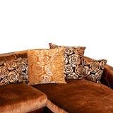 Angolo dorato del sofà Immagine Stock Libera da Diritti