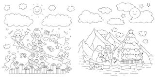 Angolo ed animale illustrazione vettoriale