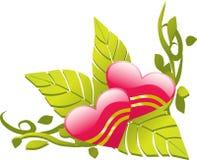 Angolo floreale di disegno di amore Immagine Stock Libera da Diritti