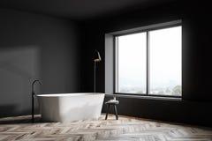 Angolo grigio del bagno con la vasca royalty illustrazione gratis