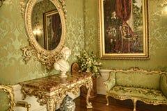 Angolo lussuoso alla bella casa di campagna vicino a Leeds West Yorkshire che non è la fiducia nazionale fotografia stock