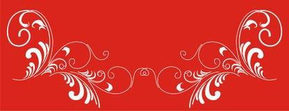 Angolo-patternes decorato delle filiali. Fotografie Stock