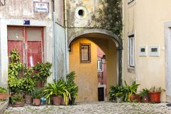 Angolo pittoresco in Sintra. Il Portogallo Fotografie Stock