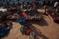 Angolo quadrato del palazzo di Patan Immagine Stock