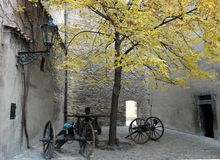 Angolo romantico di vecchia Praga in repubblica Ceca Fotografia Stock Libera da Diritti