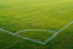 Angolo su un campo di football americano Fotografie Stock