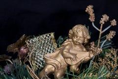 Angolo sull'albero di Natale Fotografia Stock Libera da Diritti