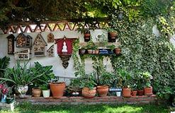 Angolo verde del giardino Fotografie Stock Libere da Diritti