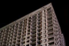 Angolo vuoto scuro abbandonato della costruzione Immagini Stock Libere da Diritti