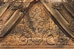 angor柬埔寨墙壁wat 库存照片