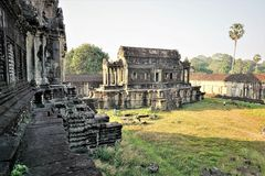Angkor Wat Cambodia libary royalty free stock photography