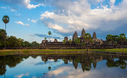 Angor Wat, arquitetura antiga em Camboja fotos de stock