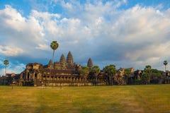 Angor Wat, arquitetura antiga em Camboja foto de stock