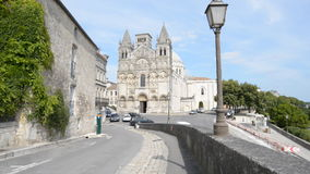 Angouleme cathedral stock video