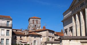 Angouleme sydvästliga Frankrike arkivfoton
